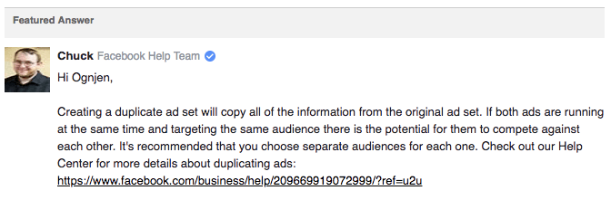Duplicating ad sets in Facebook Campaigns: When do you do it